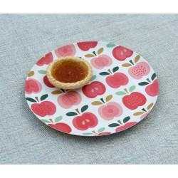 """Assiette en mélanine """"Vintage Apple"""""""