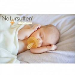 Sucette Caoutchouc Naturel Bout Rond  0-6 mois