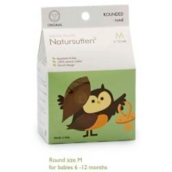 Sucette Caoutchouc naturel Bout Rond  6-12 mois