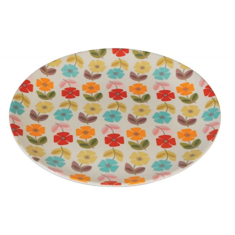 """Assiette en mélanine """"Fleurs colorées"""""""