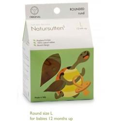 Sucette en caoutchouc naturel Bout Rond 12 mois +