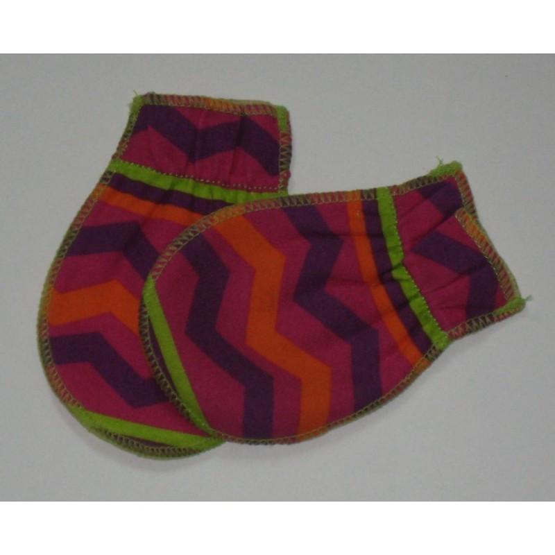 Moufles 0- 3 mois  orange-violet-rose  9135ec31511