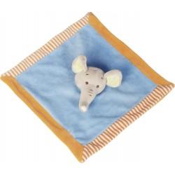 Doudou carré 'éléphant'