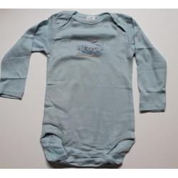 Body bleu à motif 'lapin' 24 mois