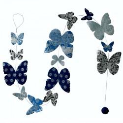 Guirlande 'Papillons précieux bleus'