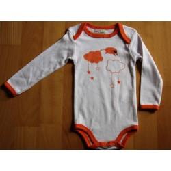 Body en coton 'nuages'  12 mois