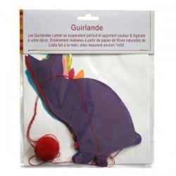 Guirlande Chats Multicolores