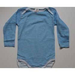 Body rayé bleu en coton 24 mois