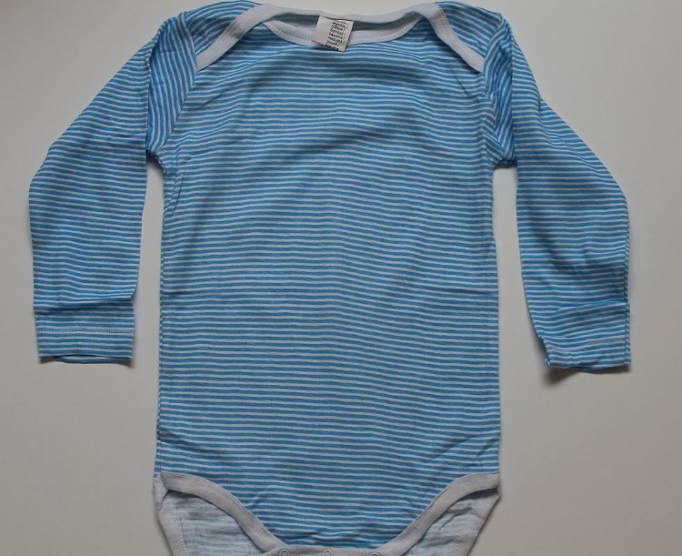 Body rayé bleu en coton 24...