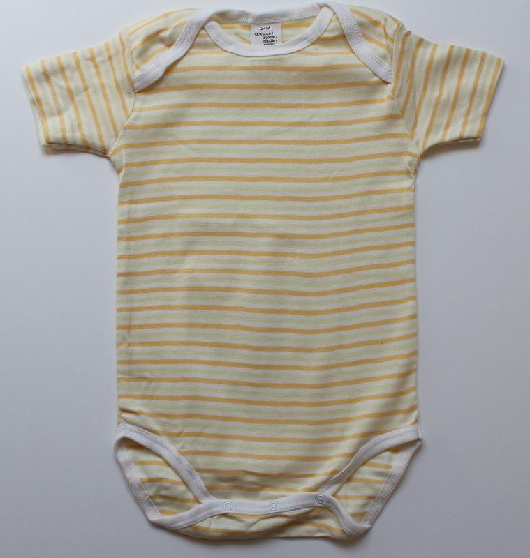 Body rayé jaune 24 mois