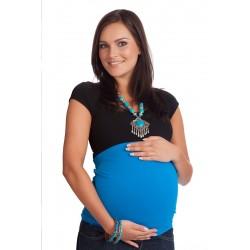 Bandeau de grossesse 'Basic' bleu aqua