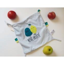 Doudou attache-sucette Rêve Fruité