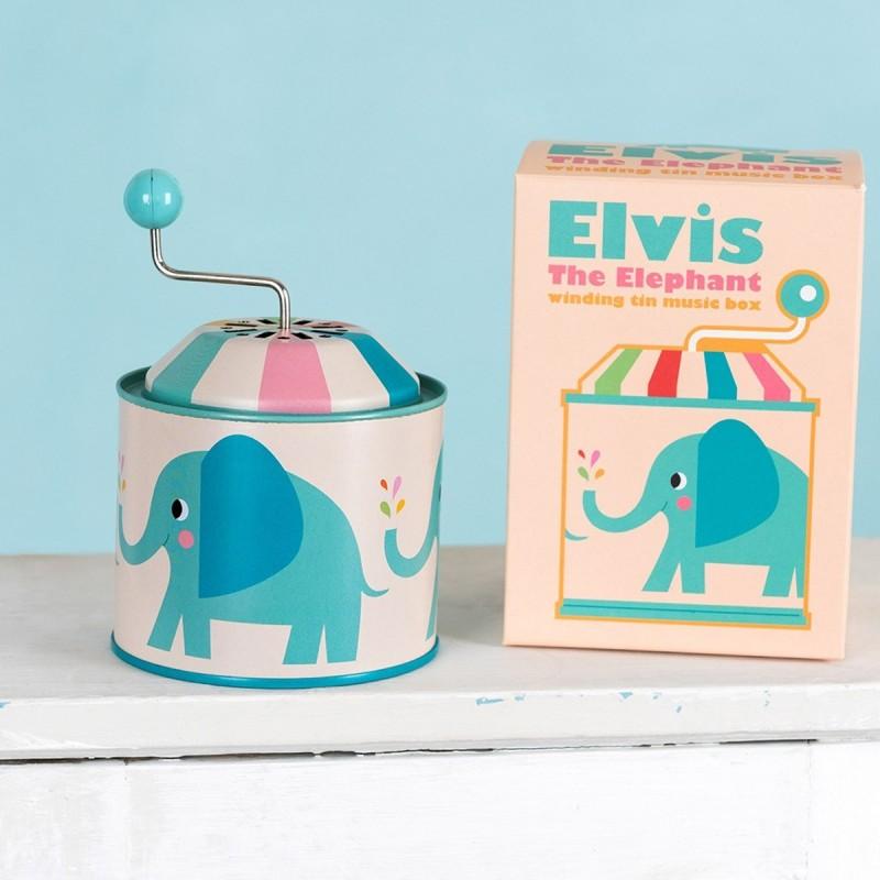 Boite à musique Elvis L'Eléphant