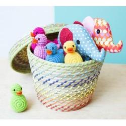 Hochet 'canard bleu' crochet
