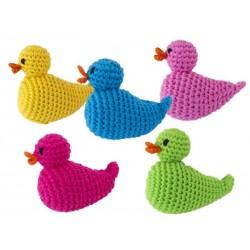 Hochet 'canard vert' crochet