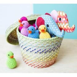 Hochet 'canard jaune' crochet