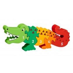 Puzzle en bois Crocodile...