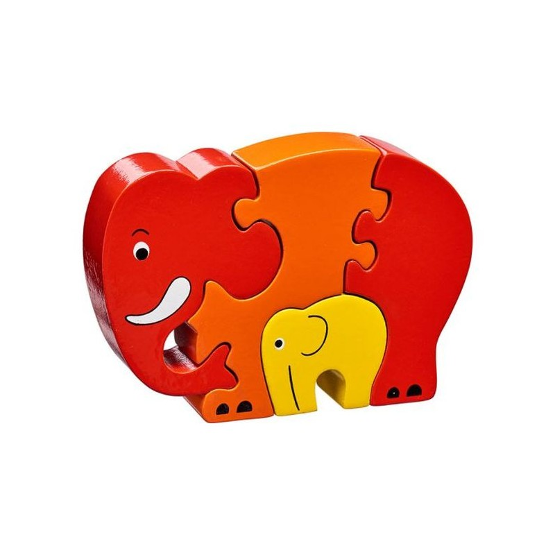 Puzzle en bois Eléphants