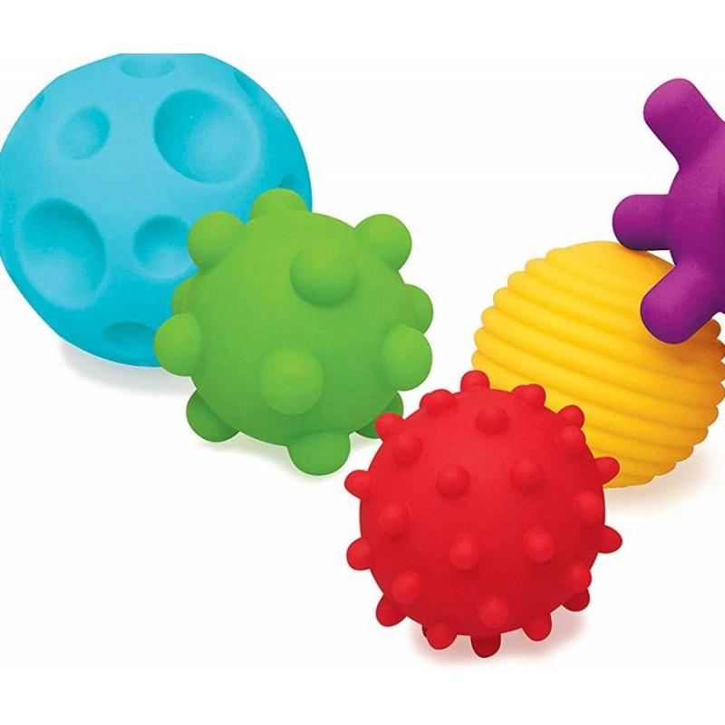 Balles tactiles multitexturées par 4