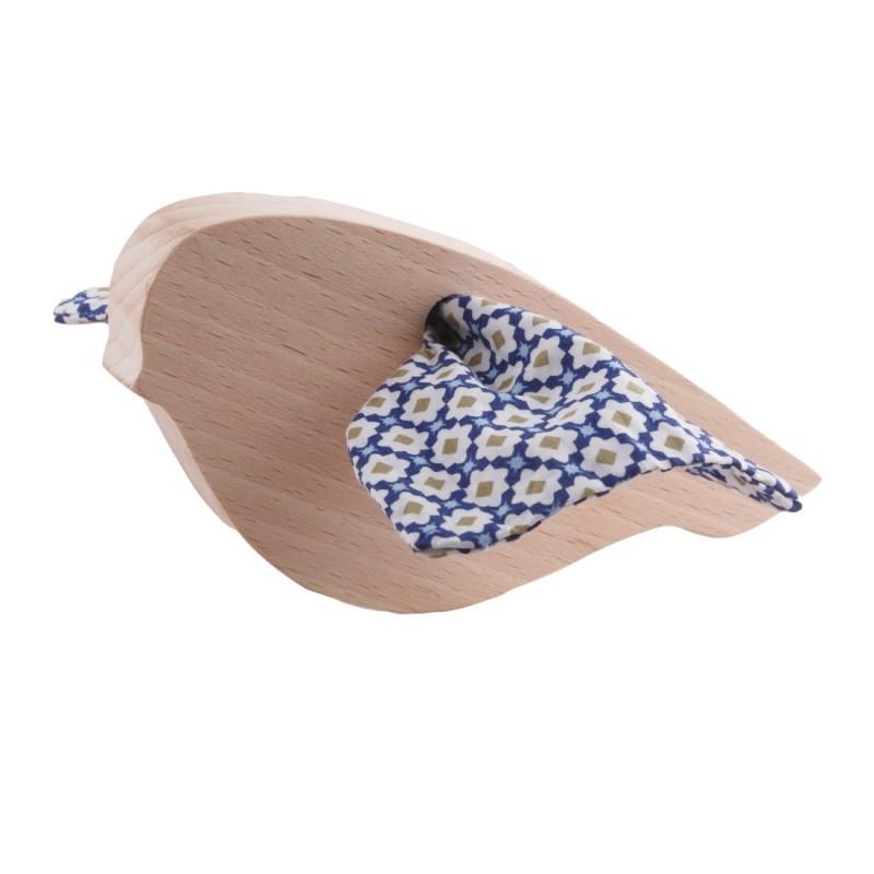 Hochet Mésange Mosaïque en bois