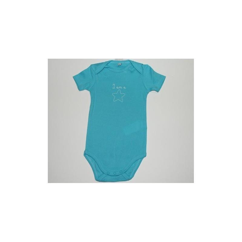Body bleu à motif 12 mois