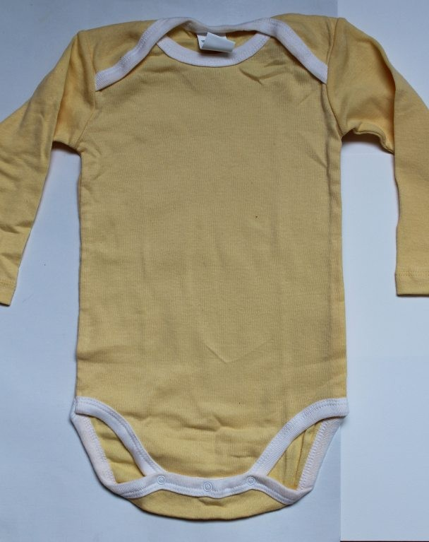Body jaune et blanc 18 mois