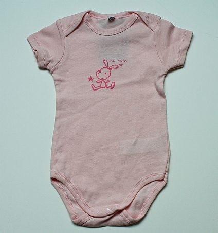Body rose à motif 12 mois