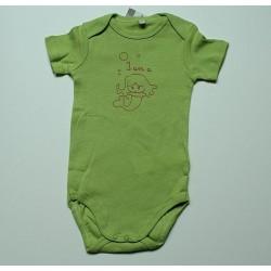 Body vert ,motif rose 12 mois