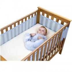Tour de lit aéré et respirant-4 cotés bleu