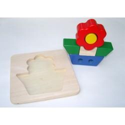 Puzzle en bois 3D 'fleur'