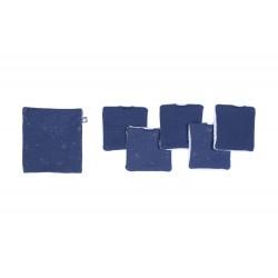 """5 Lingettes lavables """"Bleu nuit"""""""