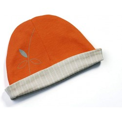 Bonnet réversible 'mandarin orange'  6-12 mois