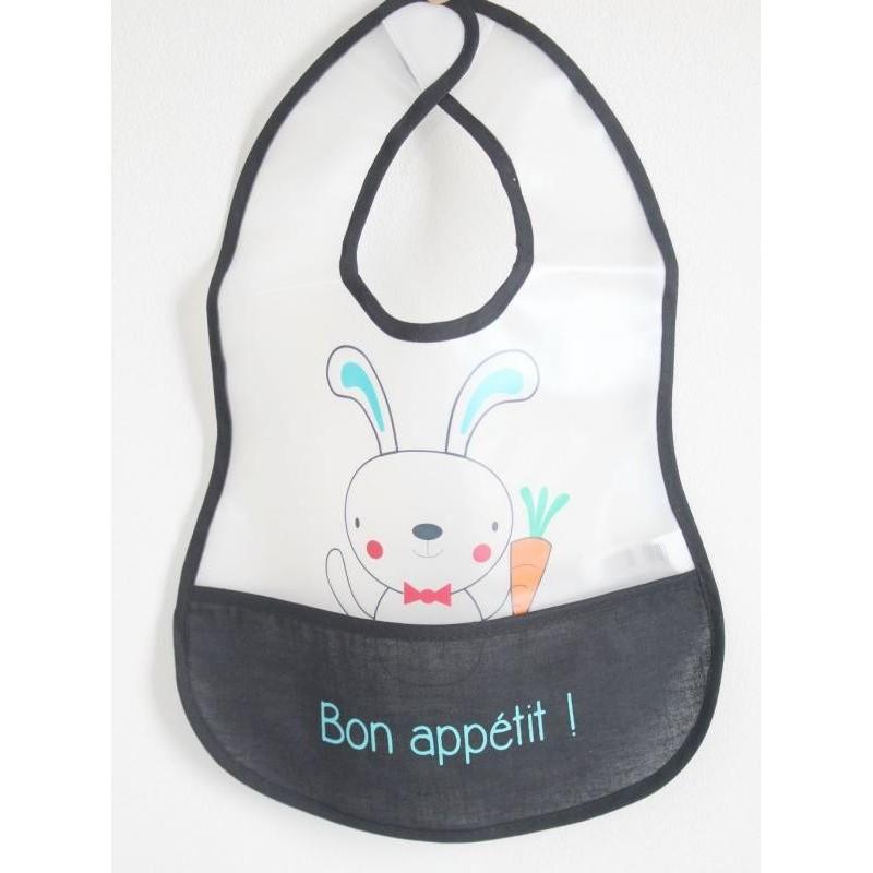 Bavoir 'Bon appétit !'  Lapin