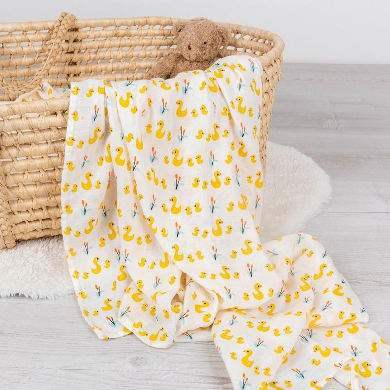 Maxi lange Petits Canards en coton et bambou