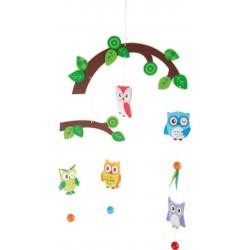Mobile 5 chouettes dans l'arbre