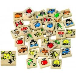 Memory en bois  40 pièces en bois