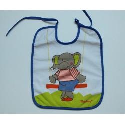Bavoir motif 'éléphant'