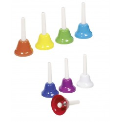 8 cloches musicales colorées