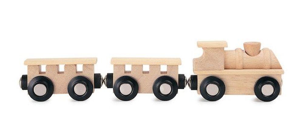 Train en bois aimanté