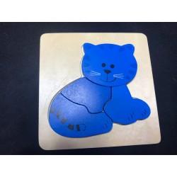 Puzzle en bois 'Chat bleu'...