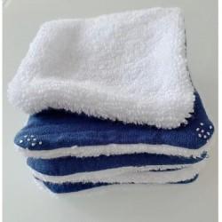 """5 Lingettes lavables """"Bleu..."""