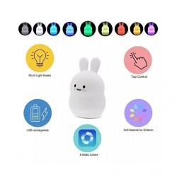 Veilleuse Lapin Rechargeable Portable 9 couleurs