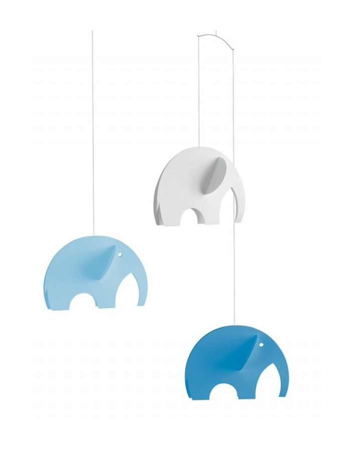 Mobile Olephants bleus