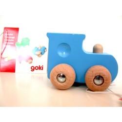 Locomotive bleue en bois dès 2 ans