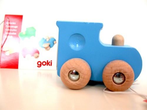 Locomotive bleue en bois...