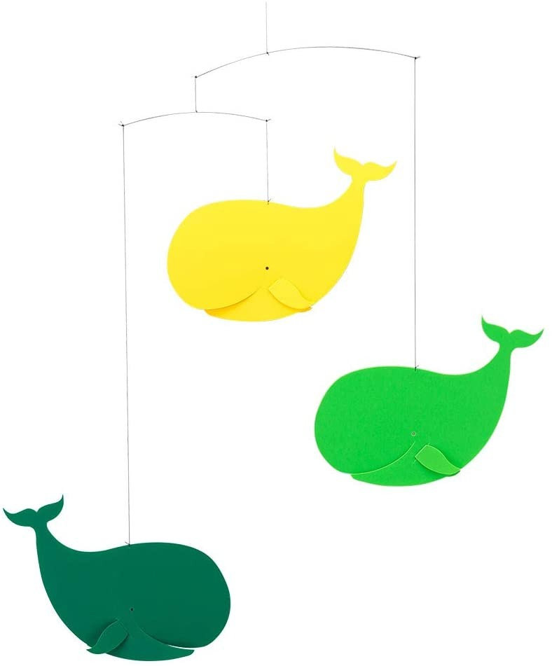 Mobile Baleines jaune et...