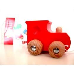 Locomotive rouge en bois dès 2 ans