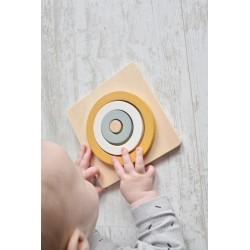 """Puzzle en bois """"3 cercles Ocre"""" 1er âge"""