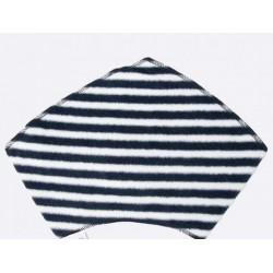 Protège cou bandana rayé bleu marine