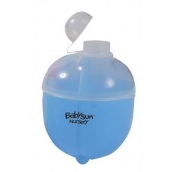 Boite à lait en poudre 3 compartiments (bleu)